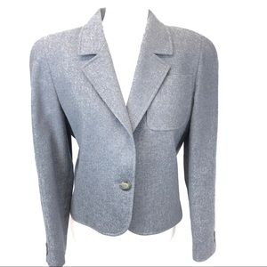 JAEGER London Gray Wool Two Piece Skirt Suit 10